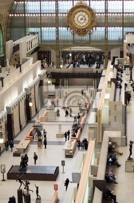 La sala principal del Museo de Orsay, París, Francia