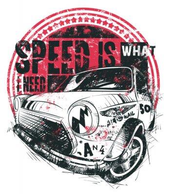 Póster La velocidad es lo que necesito