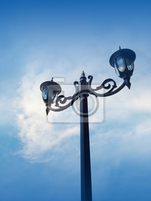 Lámparas de calle de la vendimia