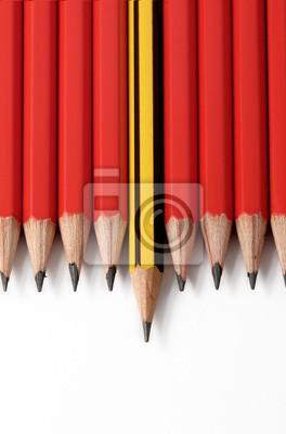 Lápices de colores de madera aisladas sobre fondo blanco