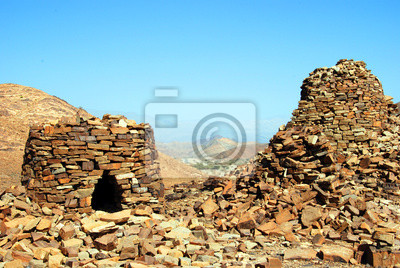 Las antiguas tumbas Beehive en Jabal Misht Western