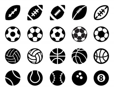 Póster Las bolas del deporte