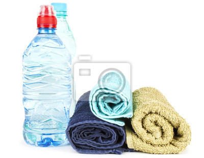 Las toallas y agua