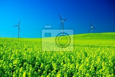 Las turbinas de viento.