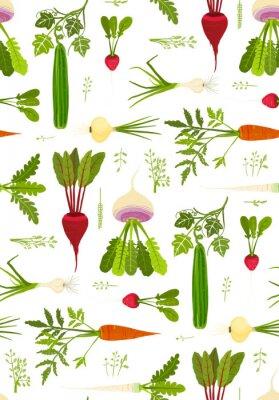 Póster Las verduras de hoja verde y los Verdes ininterrumpidas de fondo