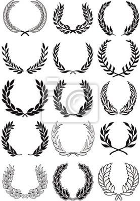 Laurel Wreaths conjunto de vectores