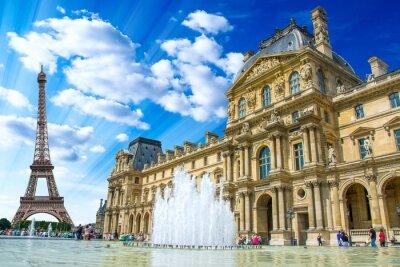 Póster Le Louvre, París, Francia