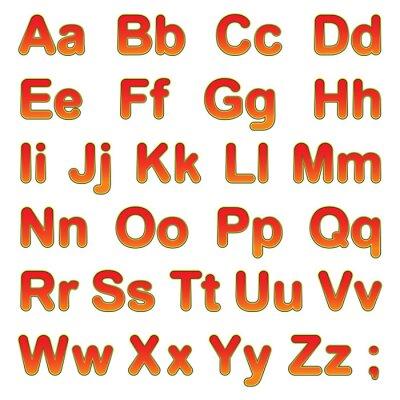 Póster Letras del alfabeto en un fondo negro