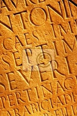 Letras latinas textura