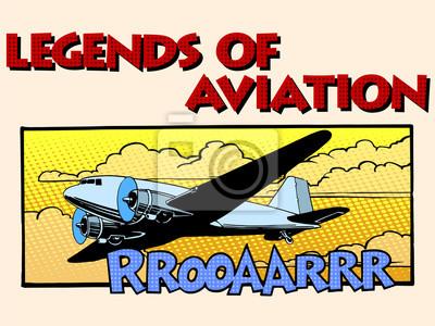 Leyendas de la aviación avión retro abstracto