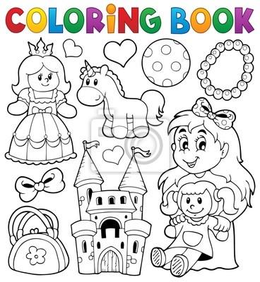 Póster Libro Para Colorear Con Los Juguetes Temáticas 1