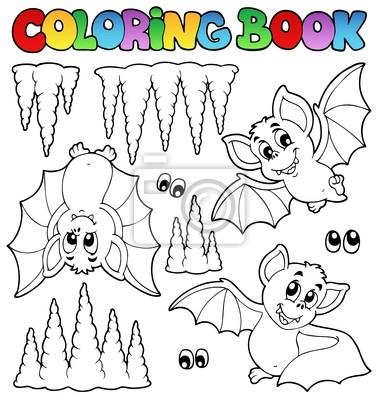 Libro para colorear con los murciélagos carteles para la pared ...