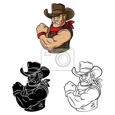 Libro Para Colorear Dibujos Animados Vaquero Carteles Para