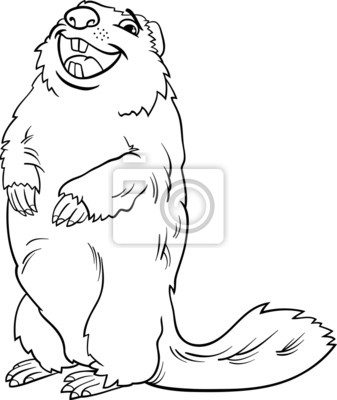 Libro para colorear marmota de dibujos animados de animales carteles ...