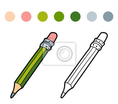 Libro Para Colorear Para Niños Lápiz De Color Carteles