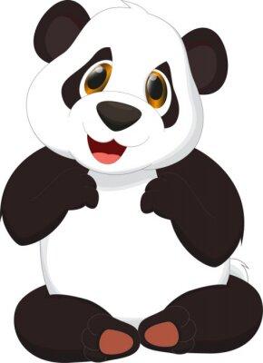 Póster linda de la historieta de la panda