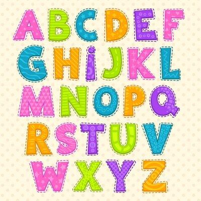 Póster Lindo alfabeto infantil divertida