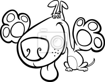 Lindo perro de dibujos animados para colorear libro carteles para la ...