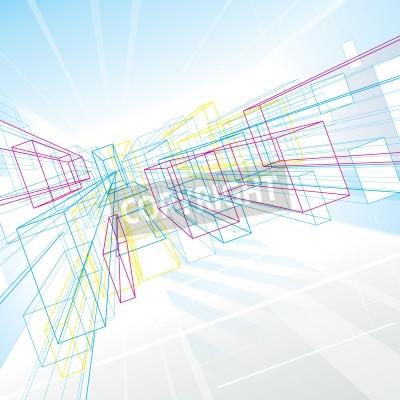 Líneas de perspectiva abstracta de dibujo de fondo para la ...