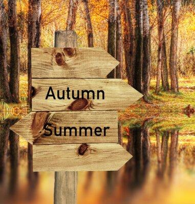 Póster llego el otoño