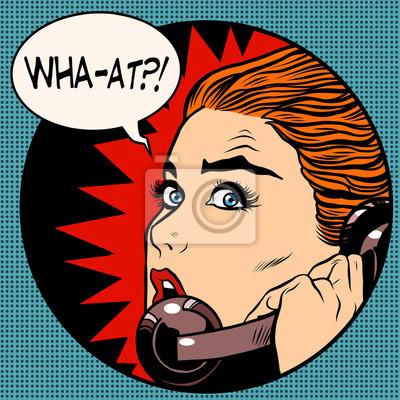 Lo que una mujer habla por teléfono