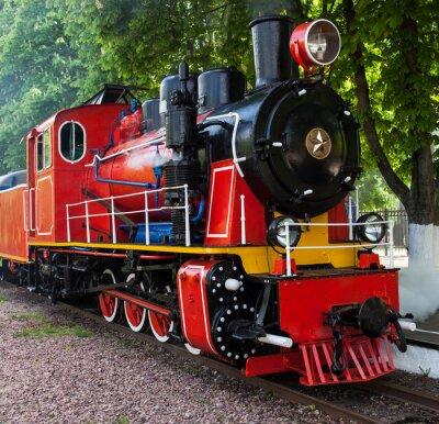 Póster Locomotora de vapor que sopla del vapor