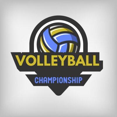 Póster Logo de deportes de voleibol.