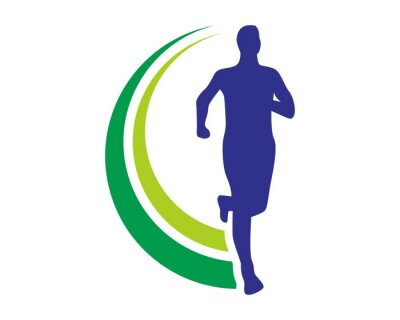 Póster Logo Run Salud