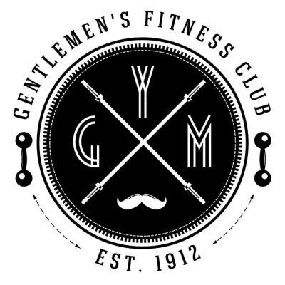Póster Logotipo de gimnasio vintage