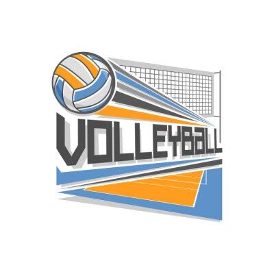 Póster Logotipo de Voleibol