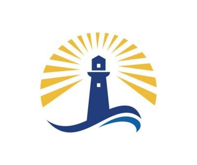 Póster Logotipo del faro