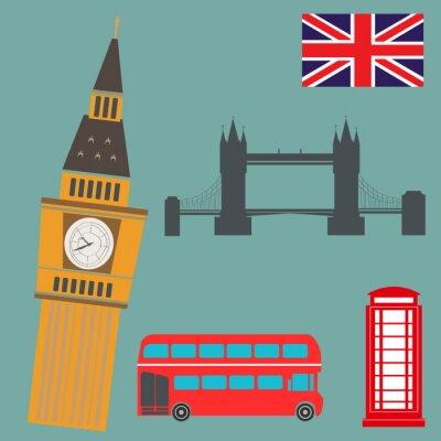 Póster Londres gráficos vectoriales