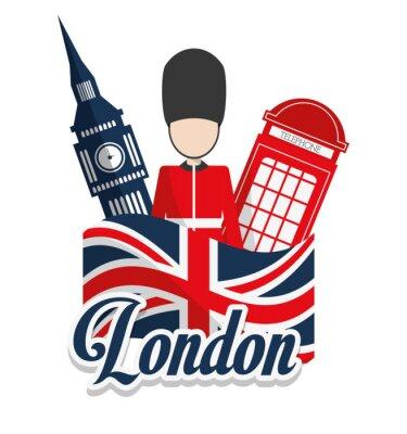 Póster Londres Proyecto de puntos de referencia