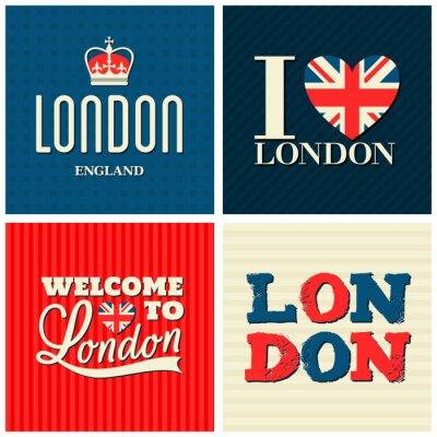 Póster Londres Tarjetas de Colección