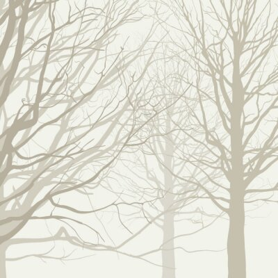 Póster Los árboles de fondo