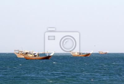 Los barcos de pesca tradicionales en Omán