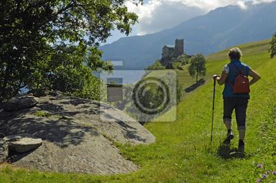 Los excursionistas Juval Tirol del Sur
