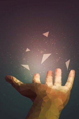 Póster Los humanos son más poderosos de lo que piensan, su mano puede sanar o hacer que un objeto vuele en el aire