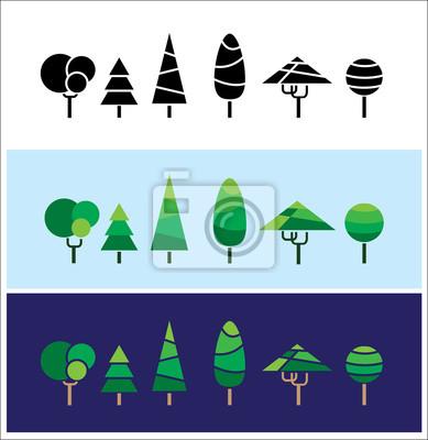 los mini árboles