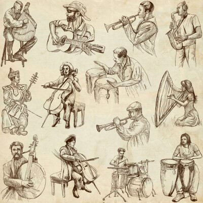 Póster Los músicos y la música de todo el mundo (serie no. 2, papel)