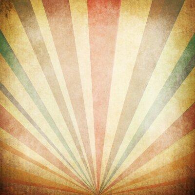 Póster Los rayos de sol de la vendimia de fondo