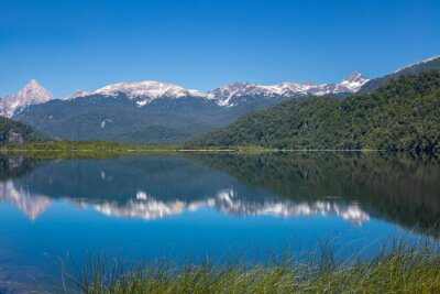 Los Torres lake and mountains beautiful landscape, Patagonia, Chile, South America