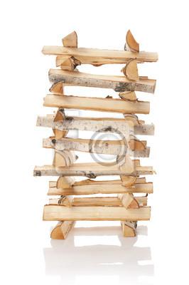 Los troncos de leña