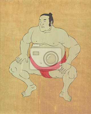 Luchador de sumo japonés