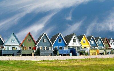 Póster Maisons scandinaves