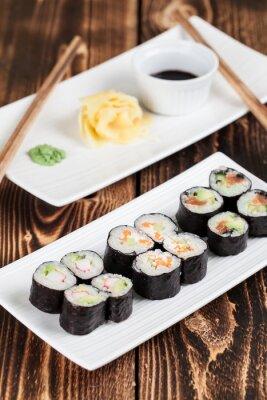 Póster Maki conjunto de sushi