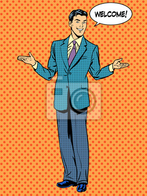 Man businessman welcome business concept