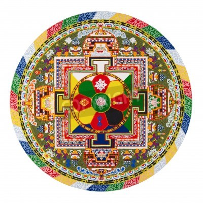 Póster Mandala tibetano