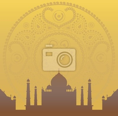 mandala y el Taj Mahal de papel tapiz