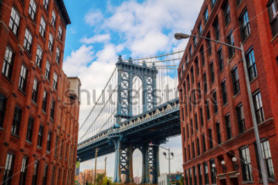 Póster Manhattan Bridge seen from Dumbo, Brooklyn, New York City